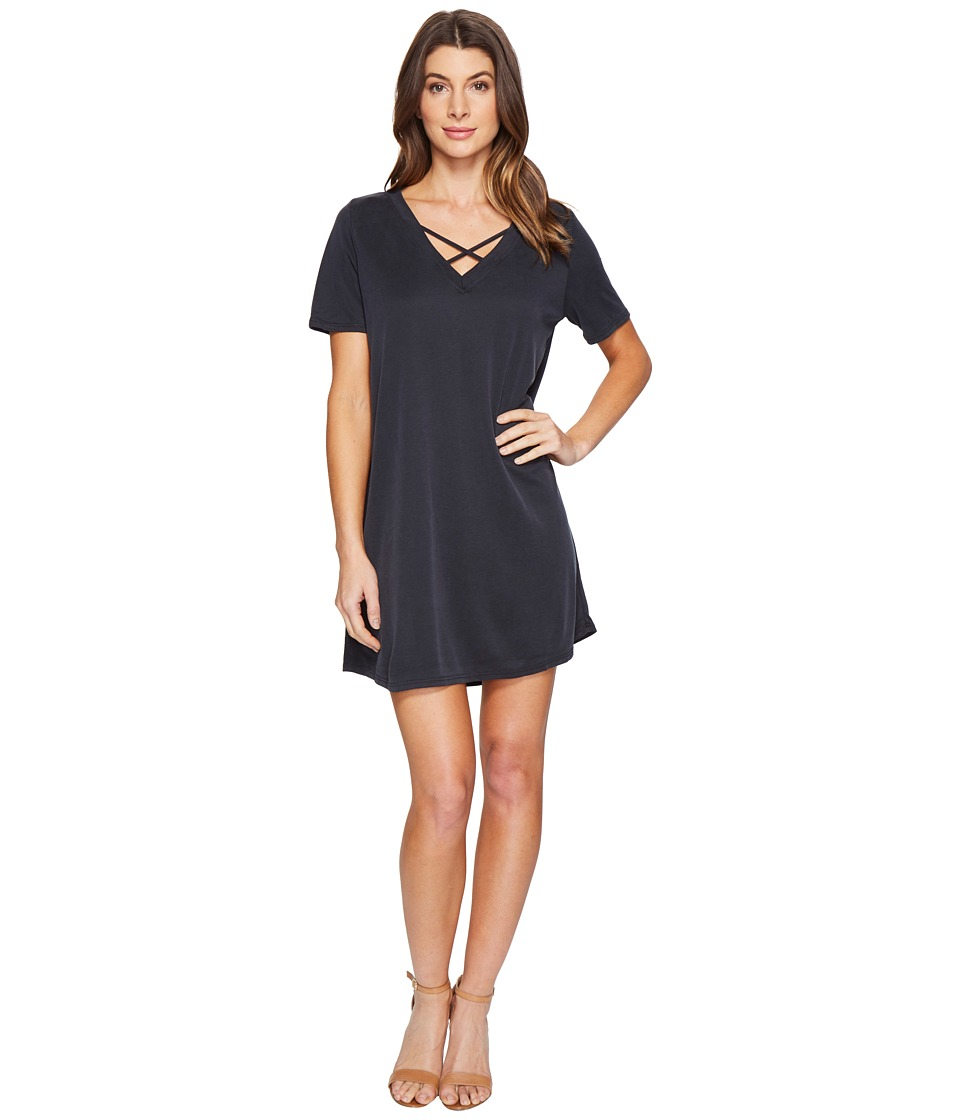 Culture Phit Alma Short Sleeve Dress with Strap Detail (Black) Women