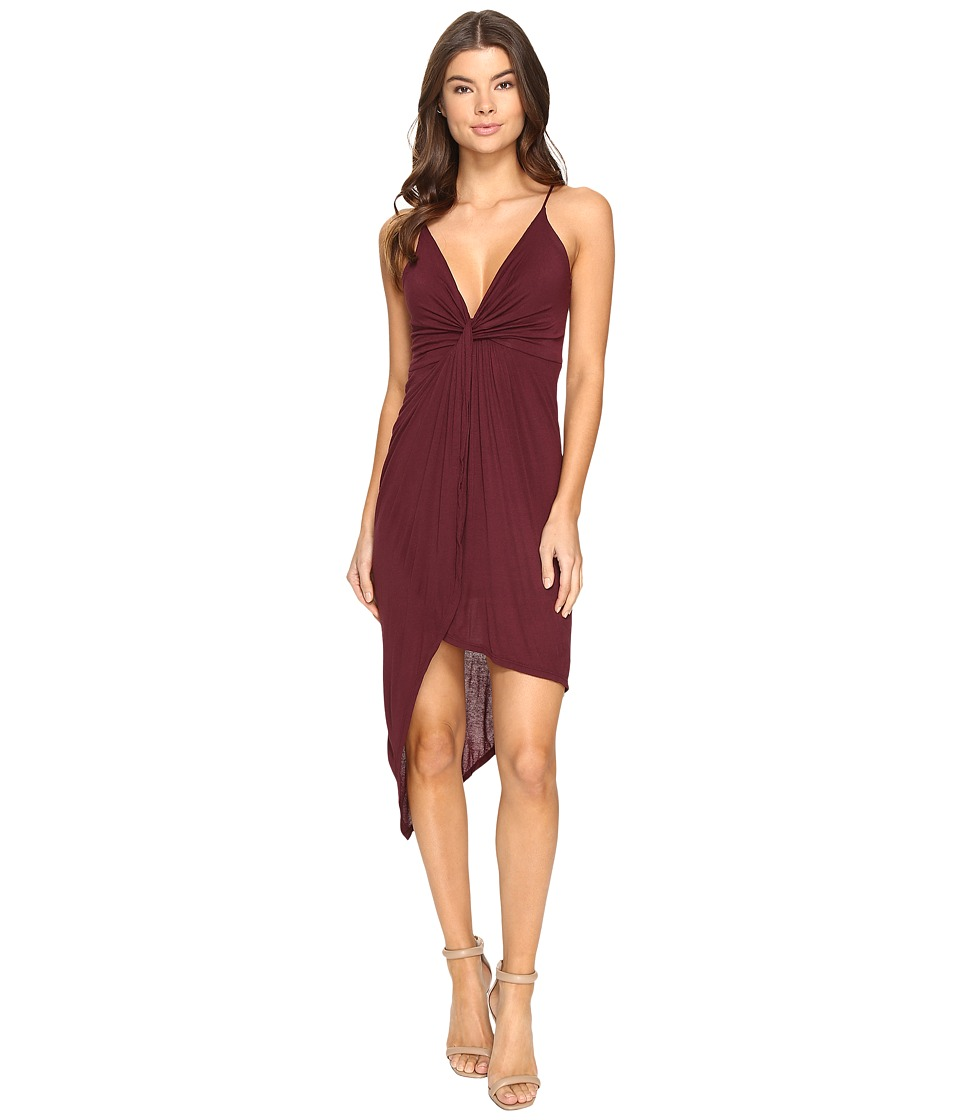 Culture Phit Augustina Spaghetti Strap Dress (Burgundy) Women