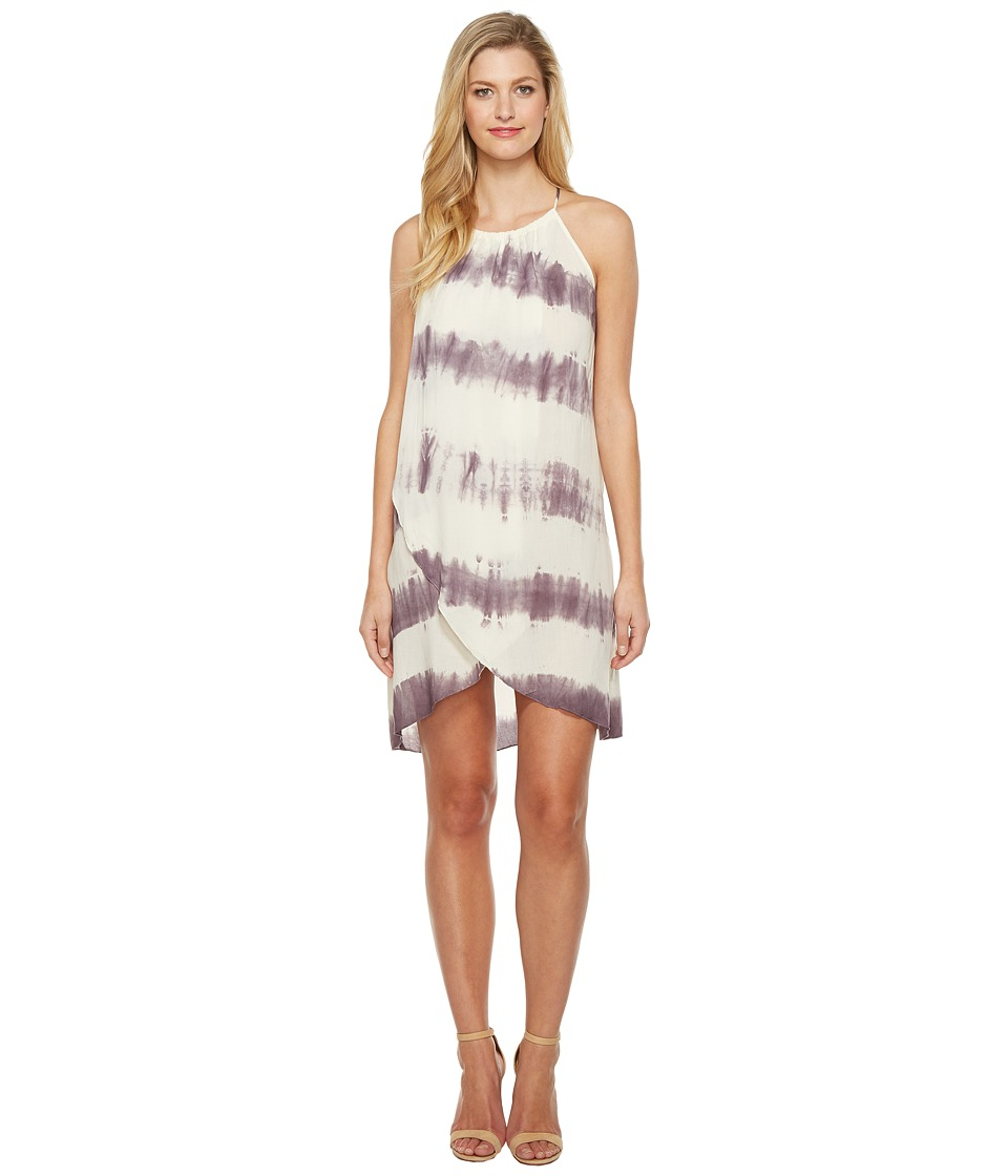 Culture Phit Adora Overwrap Tie-Dye Dress (Ivory/Red Bean) Women