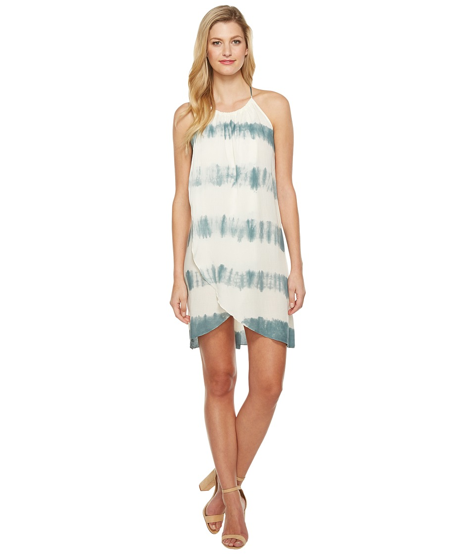 Culture Phit Adora Overwrap Tie-Dye Dress (Ivory/Sage) Women