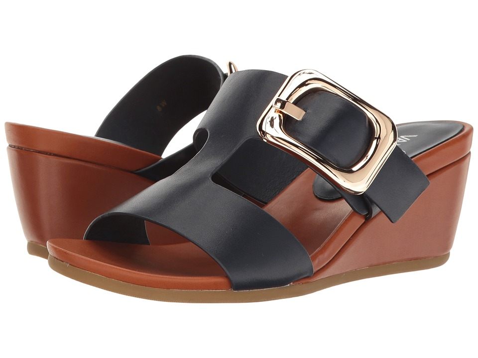 Vaneli Danel (Navy Nappa/Tan Super Calf/Gold Buckle) Women