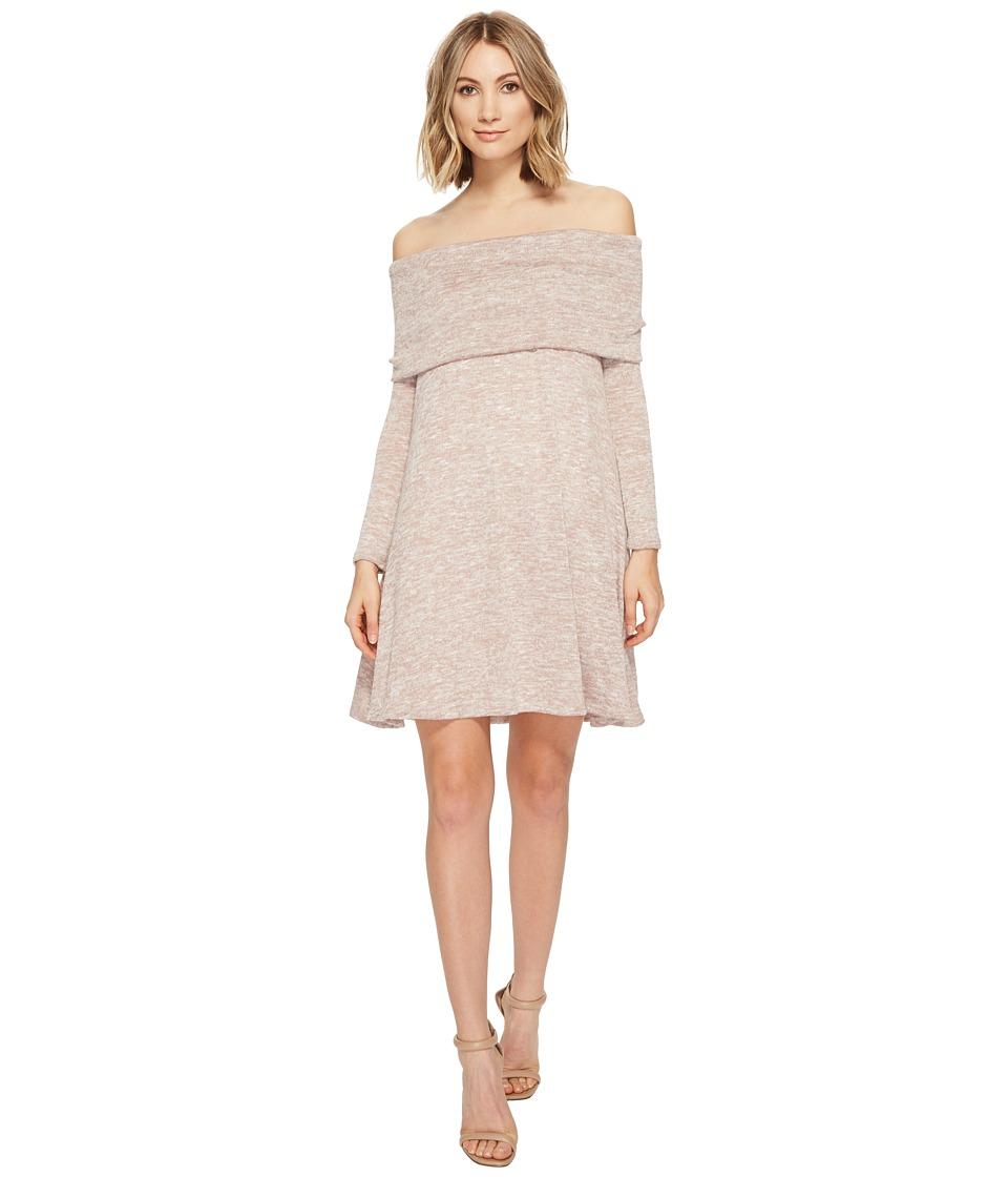 Culture Phit Kalea Off the Shoulder Sweater Dress (Oatmeal) Women