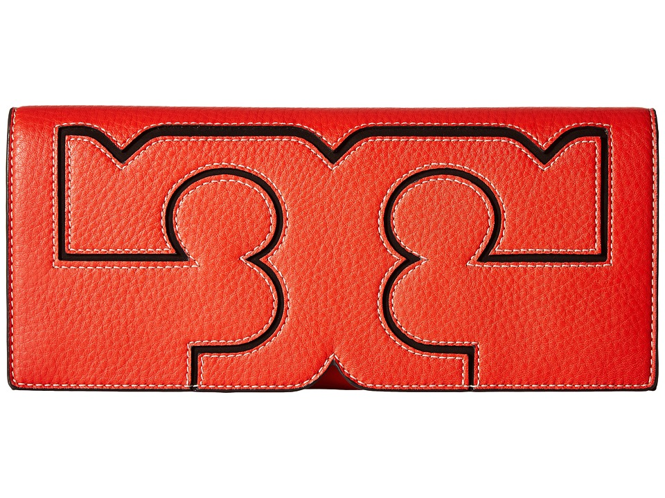 Tory Burch Serif Clutch (Samba) Clutch Handbags