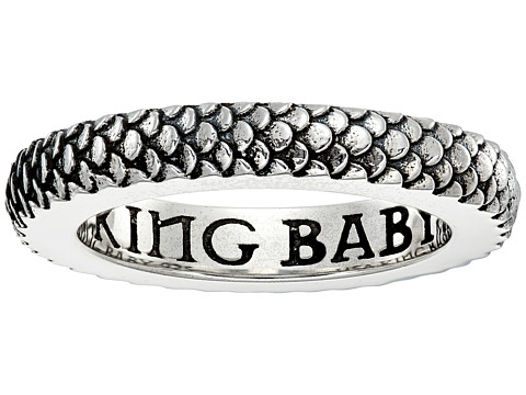 King Baby Studio Dragon Scale Infinity Ring - Silver