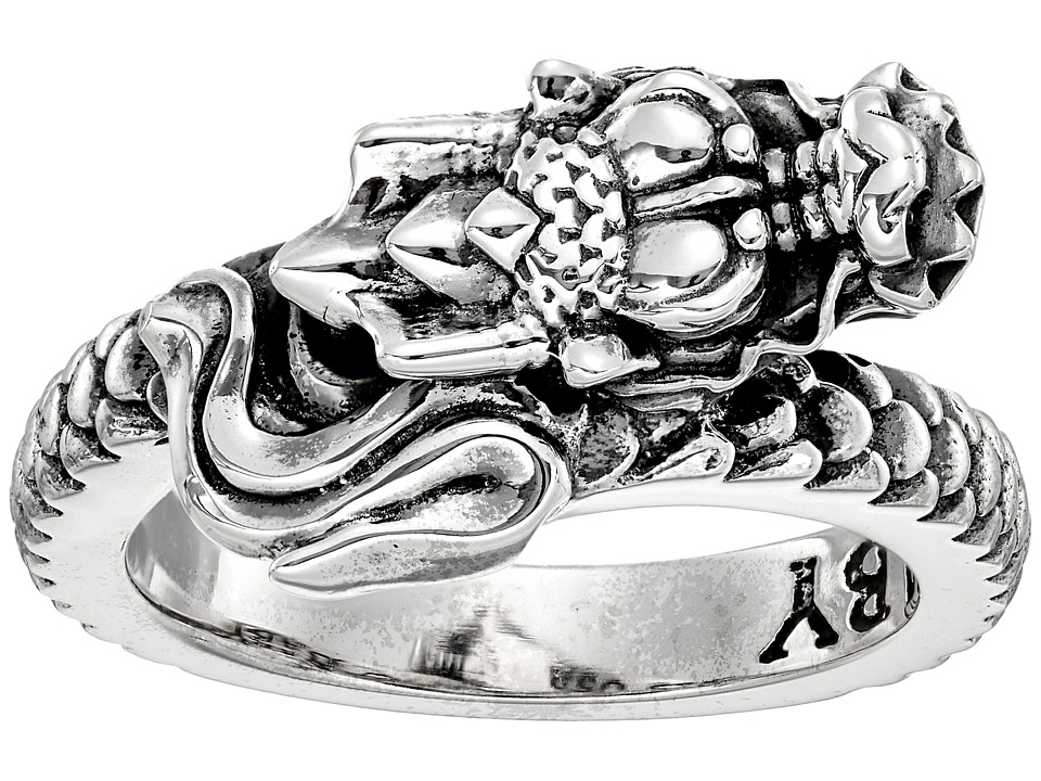 King Baby Dragon Coil Ring (Silver) Ring