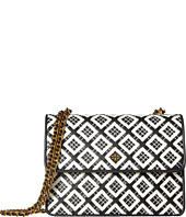 Tory Burch - Robinson Woven-Leather Convertible Shoulder