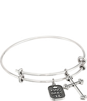 King Baby Studio - Adjustable Bangle Bracelet with Traditional Cross Charm