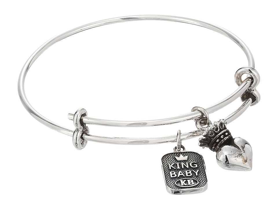 King Baby Adjustable Bangle Bracelet with Crowned Heart C...