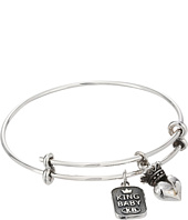King Baby Studio - Adjustable Bangle Bracelet with Crowned Heart Charm
