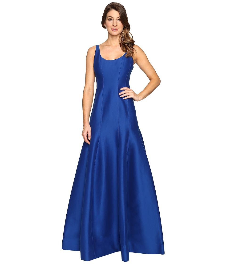 Halston Heritage Sleeveless Jacquard Dress (Cobalt) Women