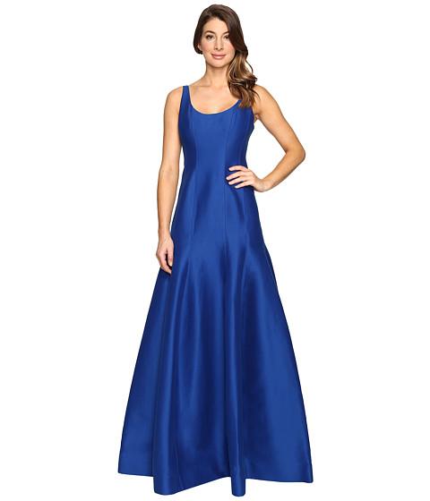 Halston Heritage Sleeveless Jacquard Dress - Cobalt
