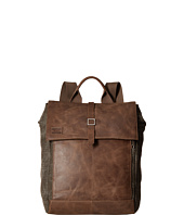 TOMS - Stone Leather/Canvas Backpack