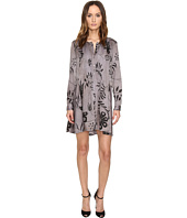 Manila Grace - Printed Long Sleeve Dress