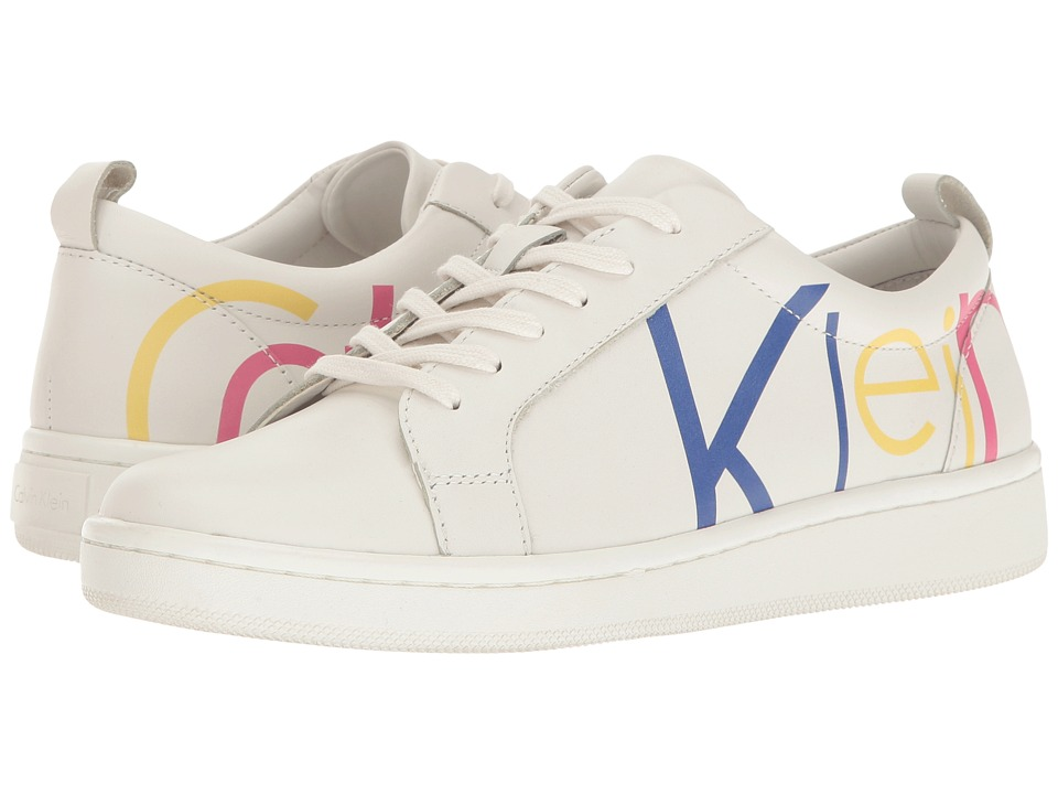 Calvin Klein Danya (White/Multi Logo Print Leather) Women