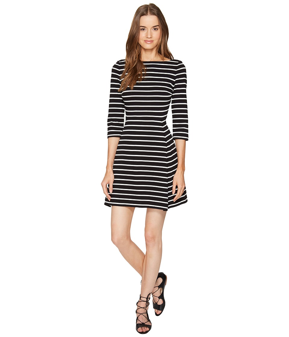 Kate Spade New York Broome Street Stripe Essential Dress (Black/Off-White) Women