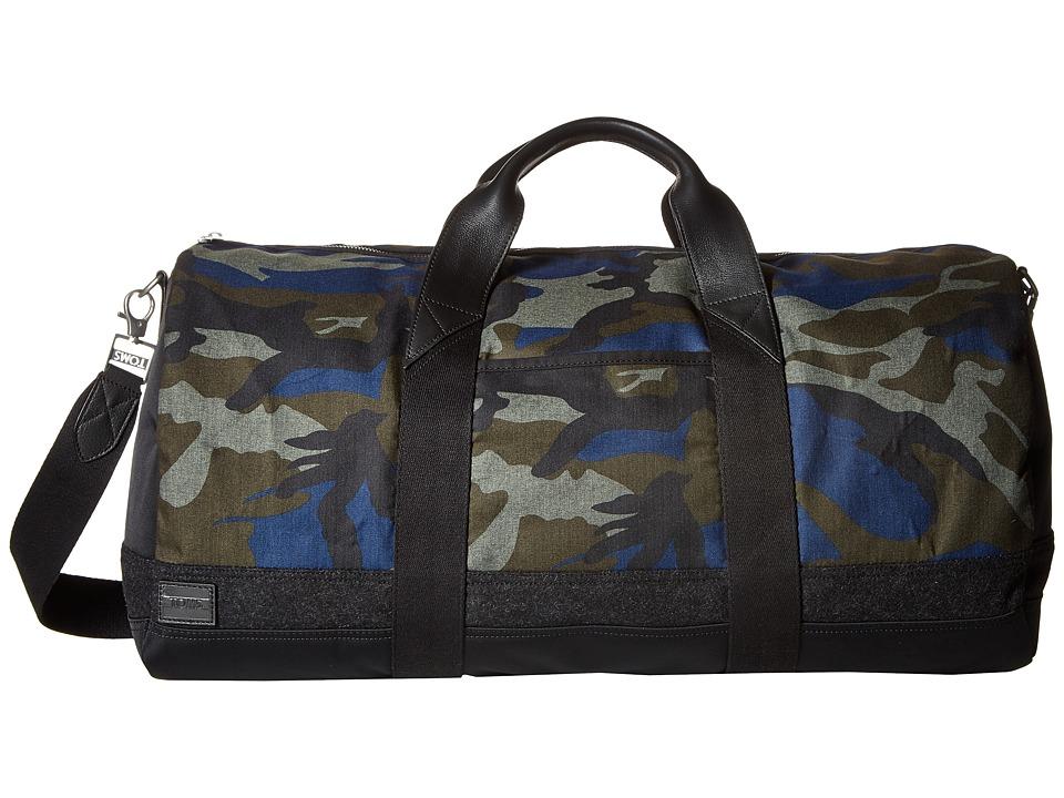 TOMS - Olive Camo Herringbone Duffel (Black) Duffel Bags