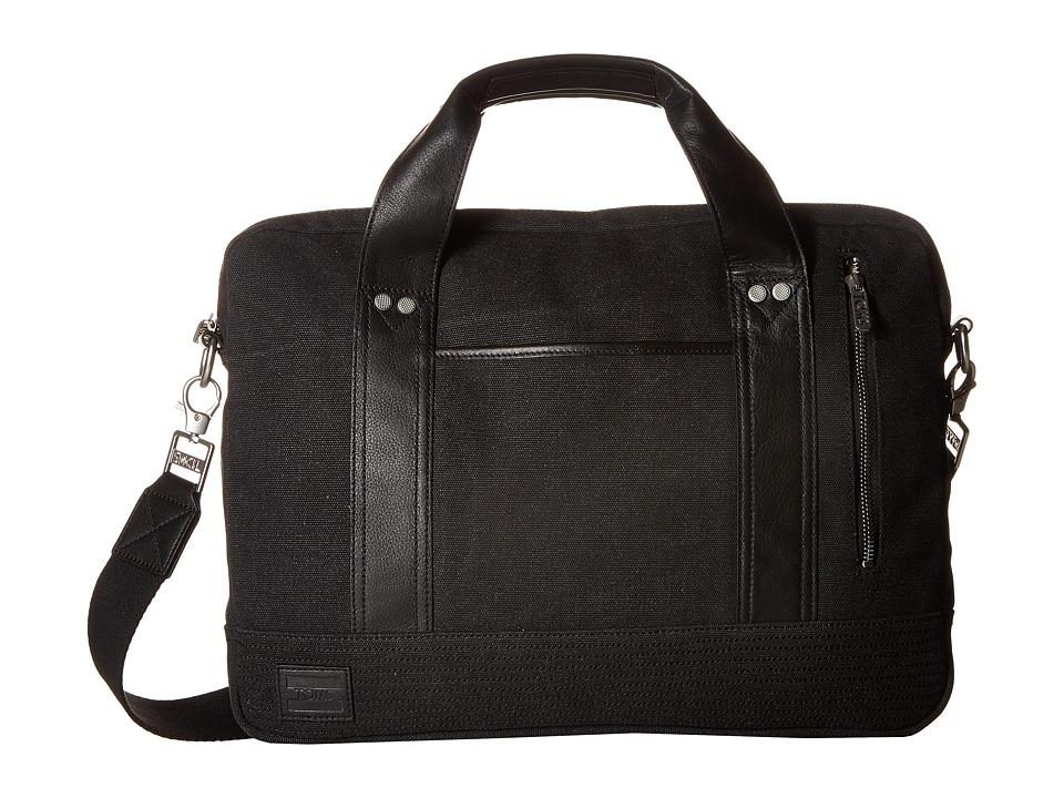 TOMS - Canvas Computer Brief (Black) Computer Bags