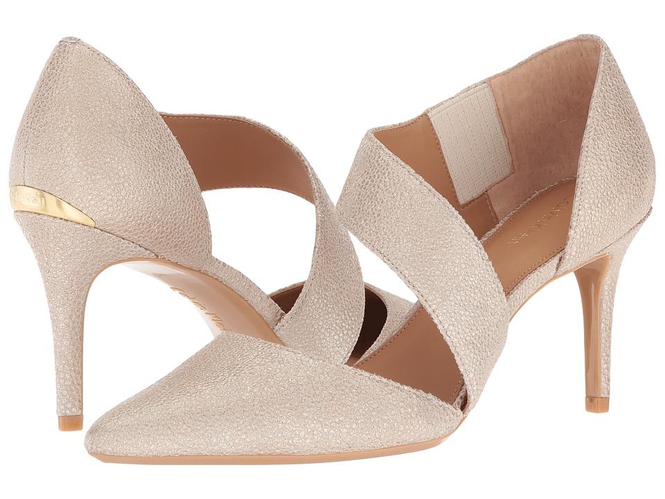 Calvin Klein Gella (Sand Stingray Print Leather) High Heels
