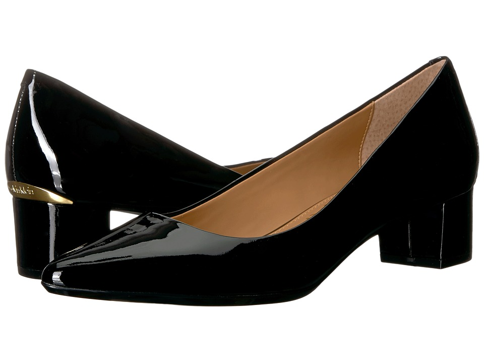 Calvin Klein Genoveva Pump (Black Patent) Women's Shoes