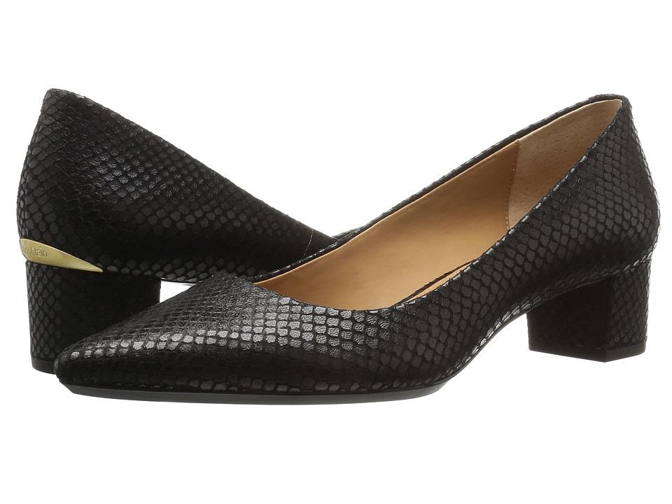 Calvin Klein Genoveva (Black Snake Print Leather) Women
