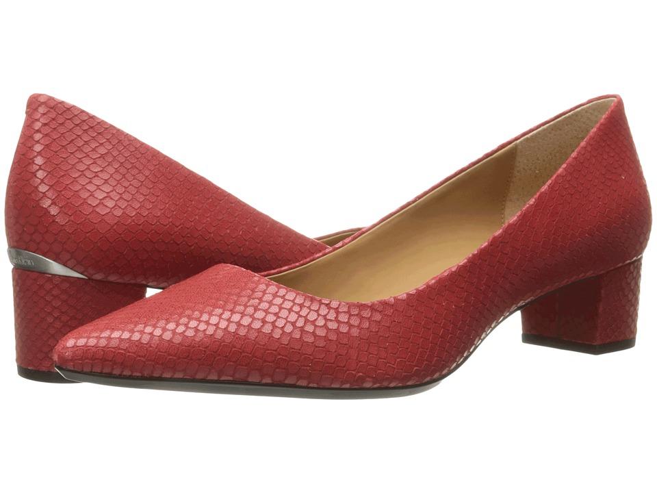 Calvin Klein Genoveva (Lipstick Red Snake Print Leather) Women