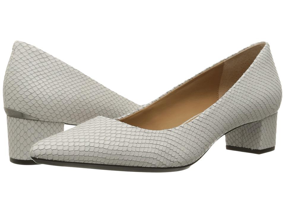 Calvin Klein Genoveva (Platinum White Snake Print Leather) Women