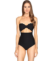 Kate Spade New York - Marina Piccola Scalloped Cut Out Bandeau One-Piece