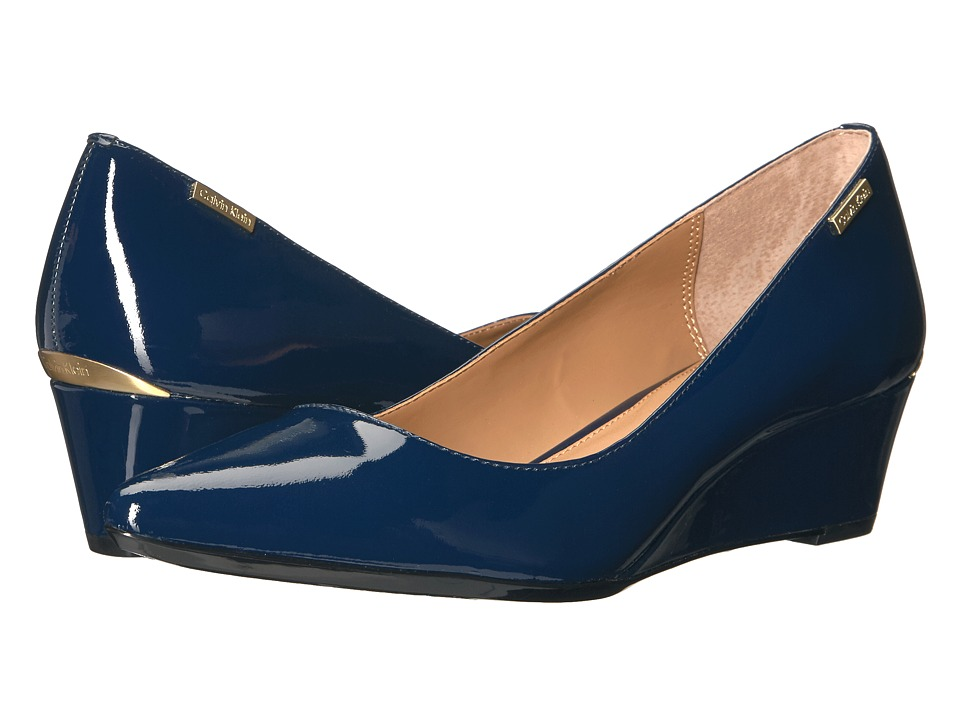 Calvin Klein Germina (Navy Patent) Women's Shoes