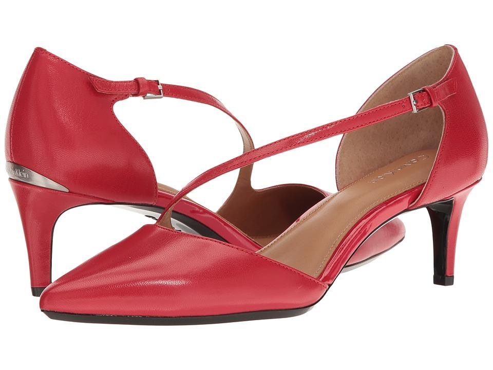 Calvin Klein Page (Lipstick Red Leather) Women