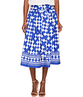 Kate Spade New York - Spice Things Up Lantern Poplin Midi Skirt