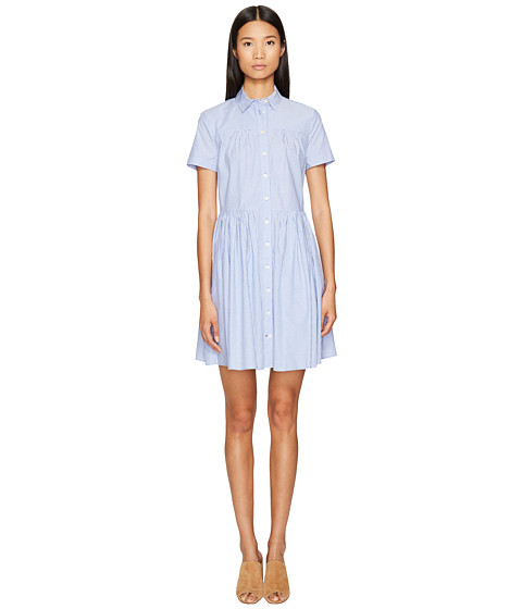 Kate Spade New York Broome Street Stripe Poplin Swing Shirtdress