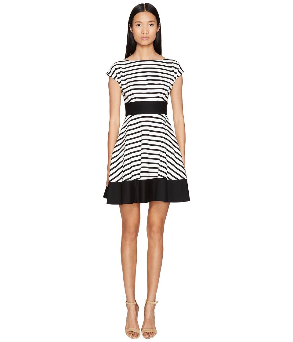 Kate Spade New York Broome Street Ponte Stripe Fiorella Dress (Off-White/Black) Women