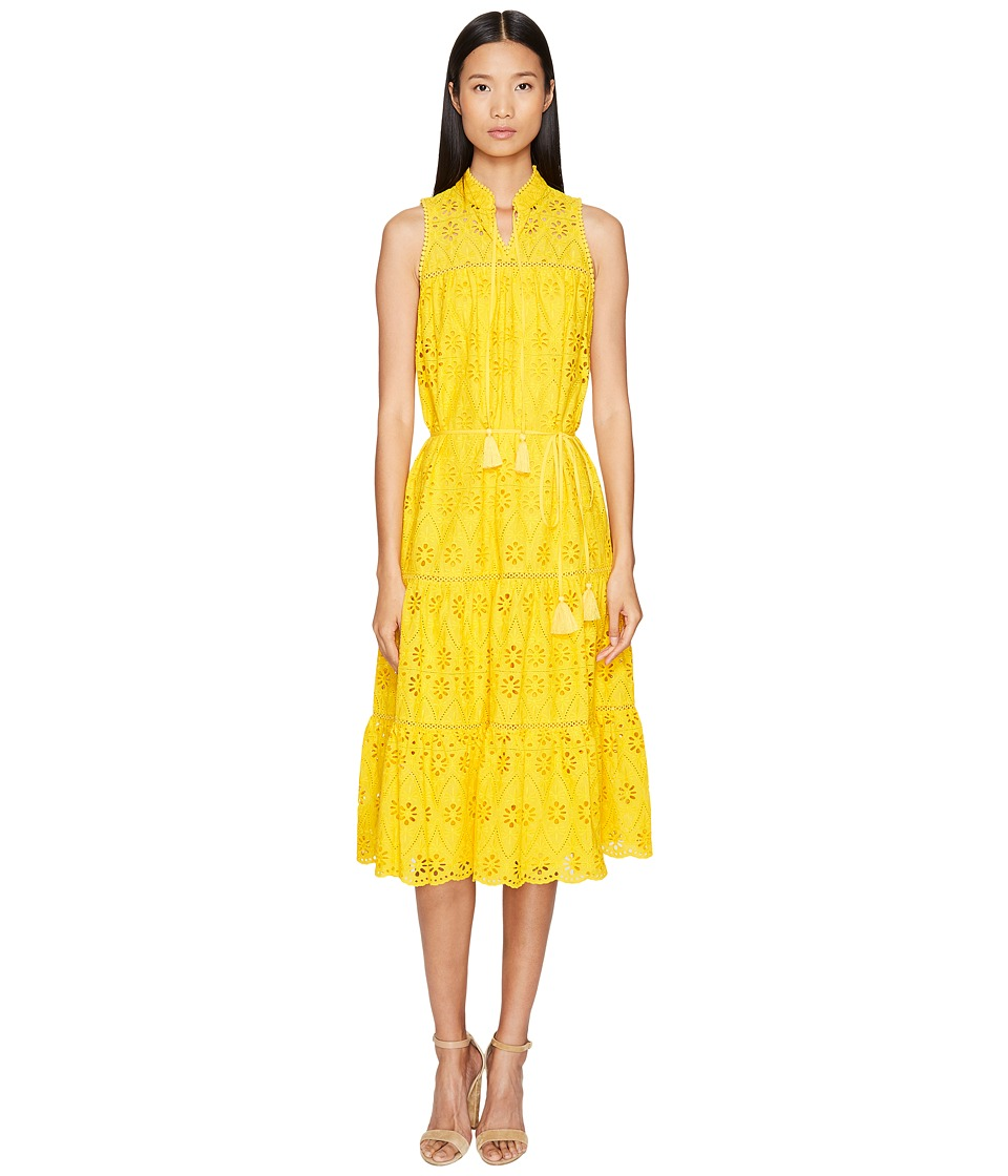 Kate Spade New York Spice Things Up Eyelet Patio Dress (Yellow Spice) Women