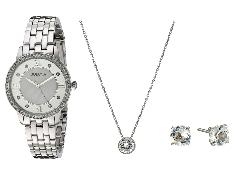 Bulova - Crystal - 96X138 Box Set (Stainless Steel) Watches