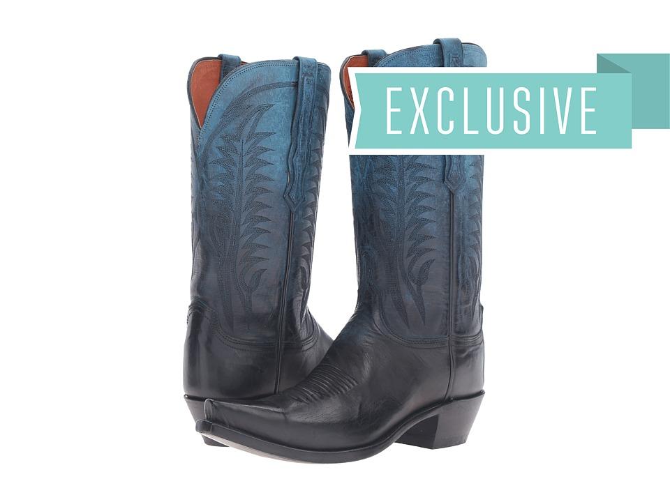 Lucchese Maxine (Ombre Ocean) Cowboy Boots