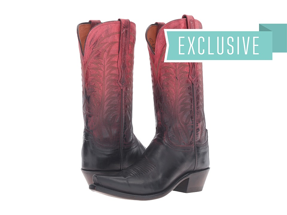 Lucchese Maxine (Ombre Red) Cowboy Boots