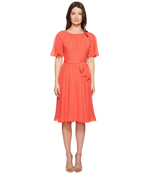 Kate Spade New York Spice Things Up Clipped Chiffon Dress