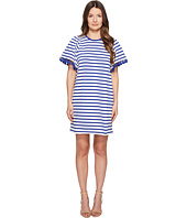 Kate Spade New York - Broome Street Stripe Flutter Sleeve Dress