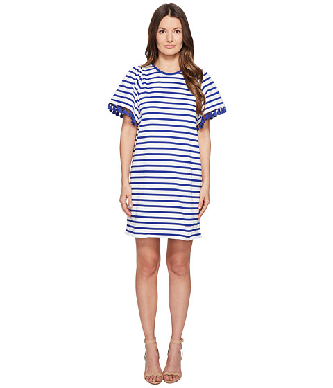 Kate Spade New York Broome Street Stripe Flutter Sleeve Dress