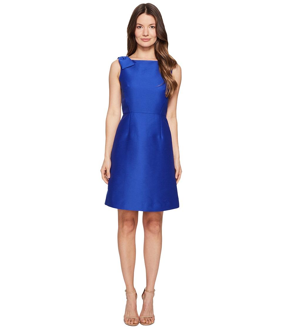 Kate Spade New York Rambling Roses Double Bow A-Line Dress (Cobalt Blue) Women