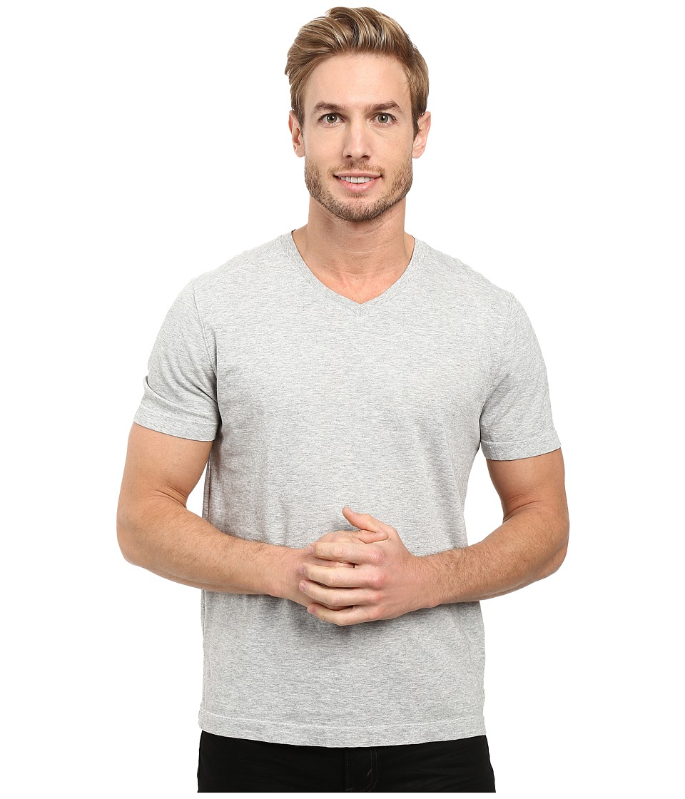 Image of Agave Denim - Agave Supima Vee Neck Short Sleeve Tee (Heather) Men's T Shirt