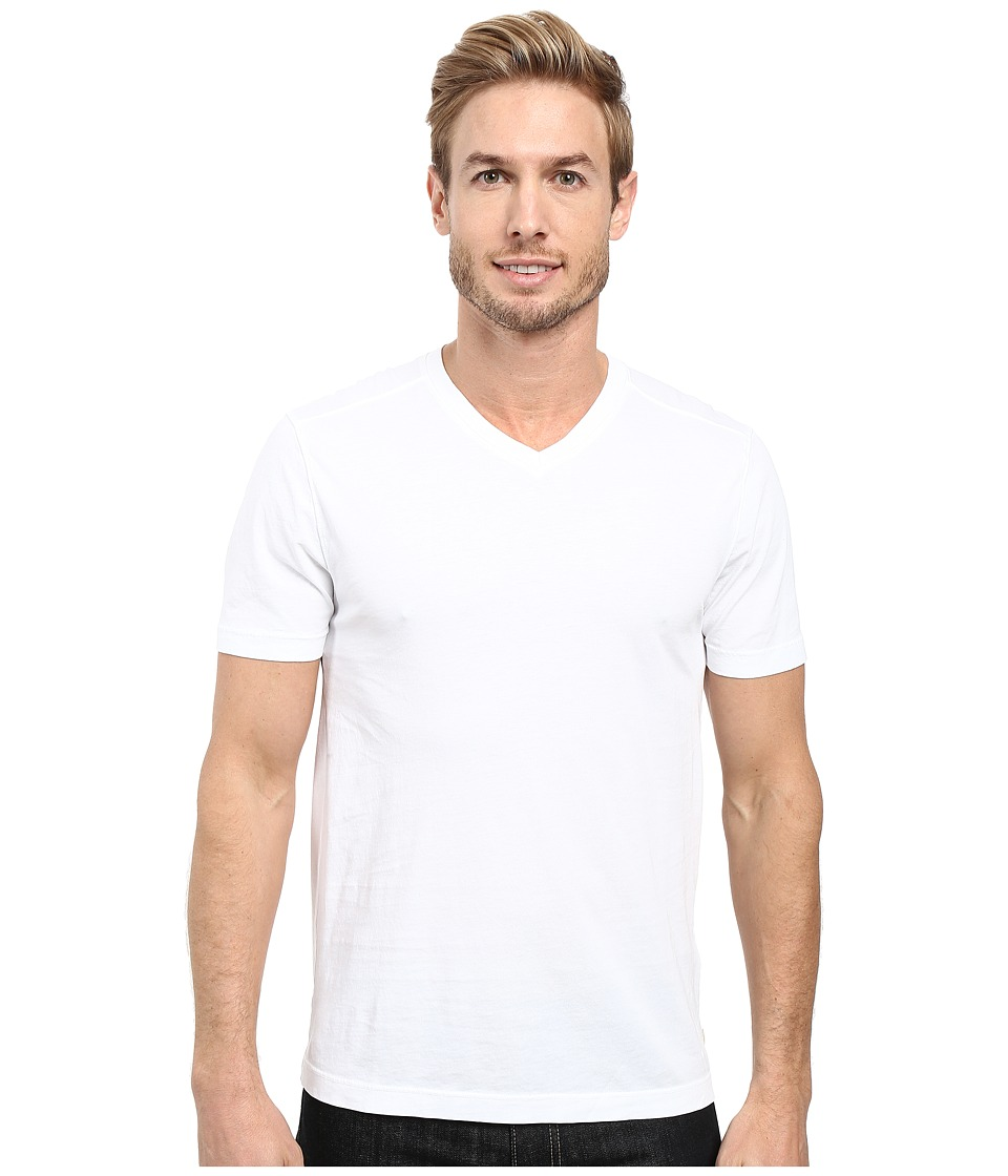 Image of Agave Denim - Agave Supima Vee Neck Short Sleeve Tee (White) Men's T Shirt