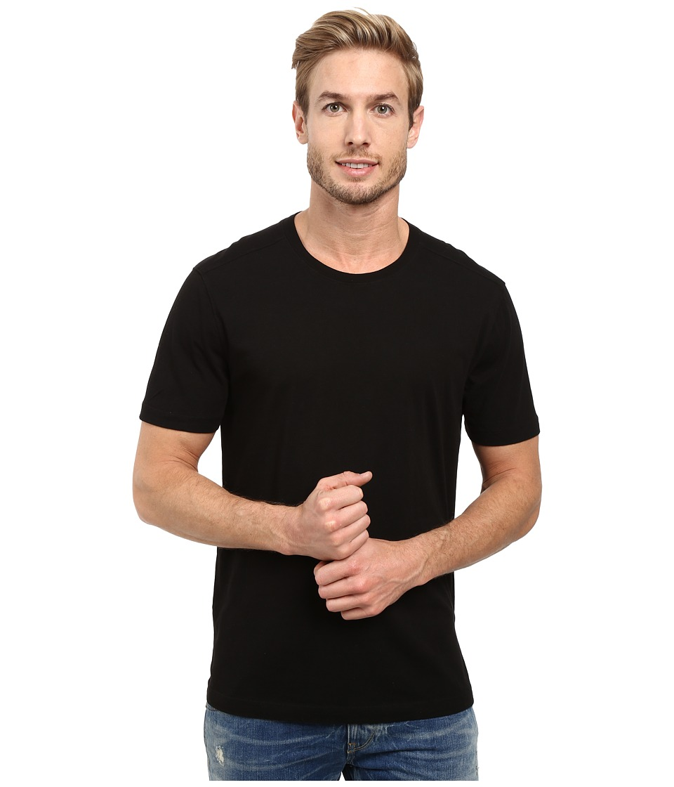 Agave Denim - Agave Supima Crew Neck Short Sleeve Tee (Black) Mens T Shirt