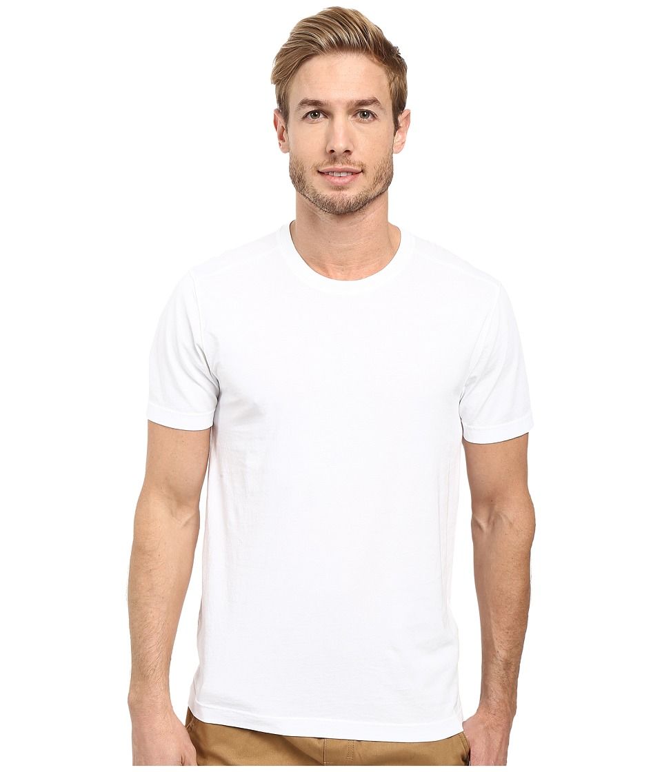 Agave Denim Agave Supima Crew Neck Short Sleeve Tee (White) Men