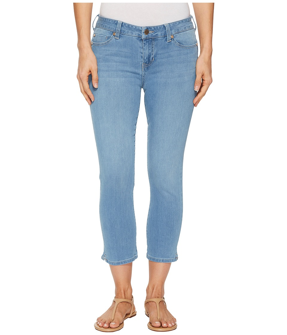 Liverpool - The Hugger Milly Capris 23 in Halo Ultra Light/Indigo (Halo Ultra Light/Indigo) Womens Jeans