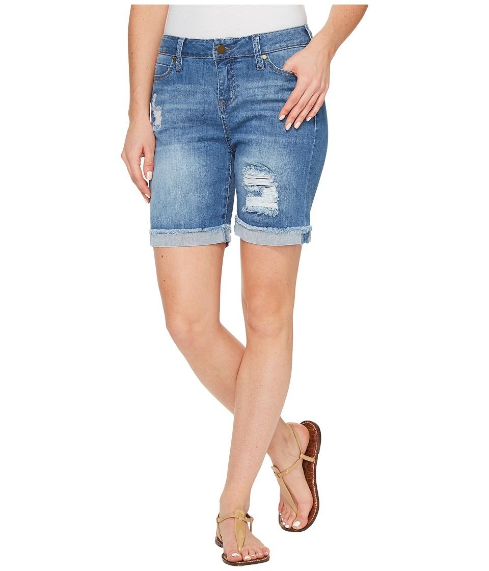 Liverpool - Corine Shorts 7 Rolled (Melbourne Dest/Indigo) Womens Shorts