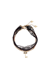 GUESS - Choker Trio Metal and Cord with Pave Key Necklace