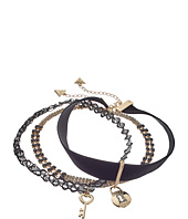 GUESS - Choker Trio Metal and Cord with Key/Lock Necklace