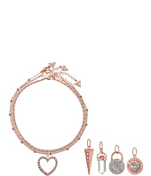GUESS - Metal Choker Trio with 5 Interchangeable Charms Necklace