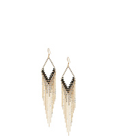 GUESS - Kite Shaped Drop Earrings with Metal Fringe